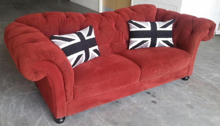 HUGE Chesterfield 3 Seater Sofa (maybe Laura Ashley or similar brand) WE DELIVER Smethwick, Sandwell