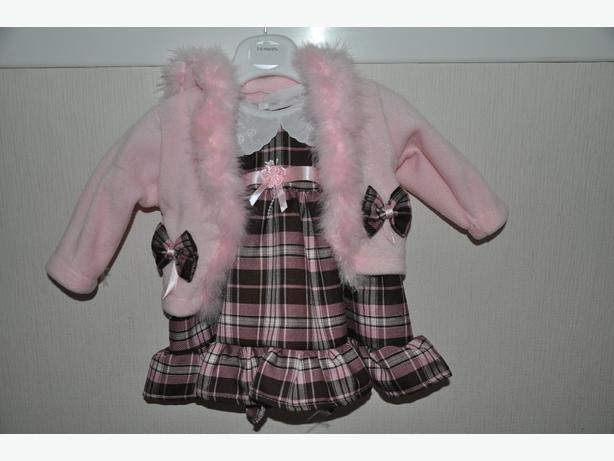 tartan pink dress