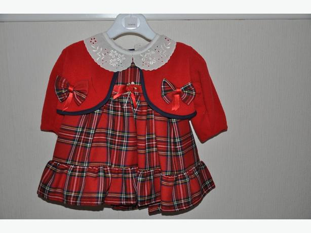 lovely red tartan dress with jacket