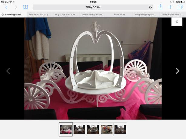 Sweet carrige,sweets,scoops & bags  £100