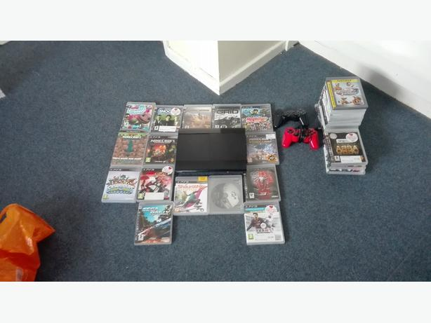 ps3 super slim console with games