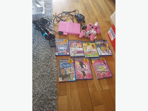 play station 2 pink