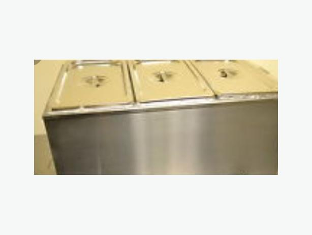 cafe 3 pot bain marie stainless steel gastronom catering items