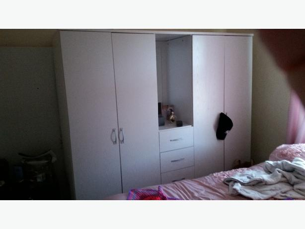 double wardrobe with mirror