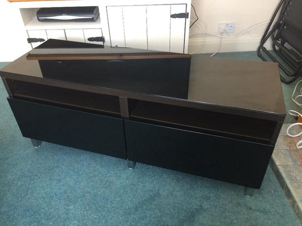 ikea black gloss unit