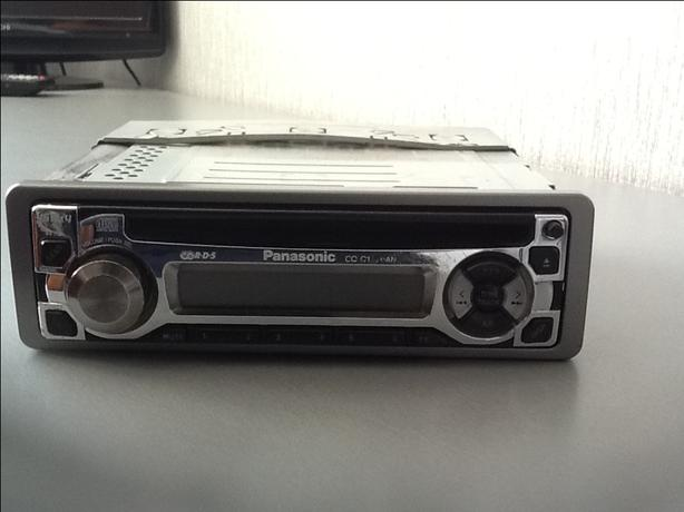 Panasonic car radio and CD player