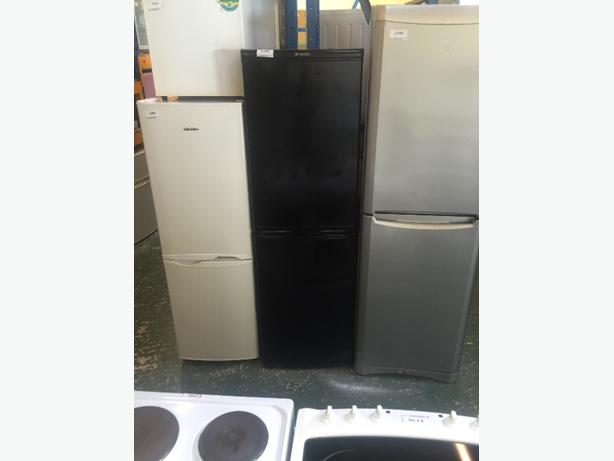 hotpoint black fridgefreezer all working