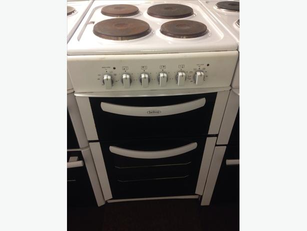 BELLING 50CM FAN ASSISTED DOUBLE OVEN ELECTRIC COOKER0