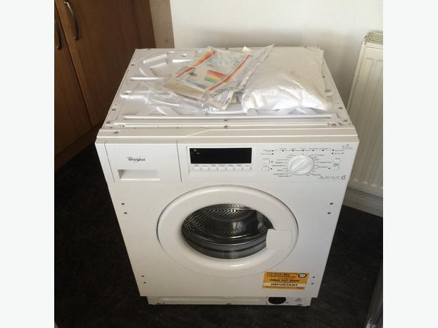 new intergrated whirlpool washing machine