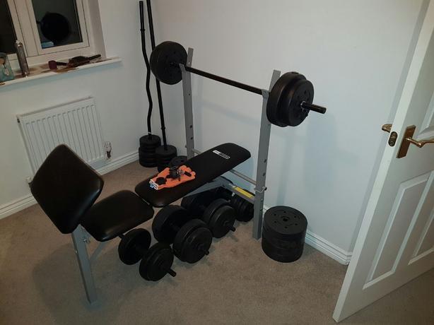 100kg bench set