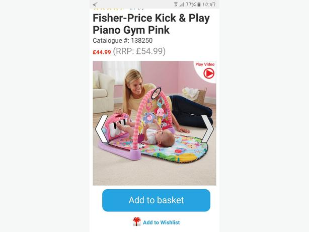 fisherprice piano play gym