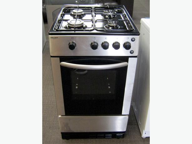 Bush 50cm Silver Gas Cooker, FSD Hobs, 6 Month Warranty