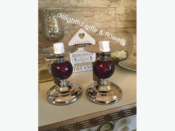 Pair mosaic candlesticks new