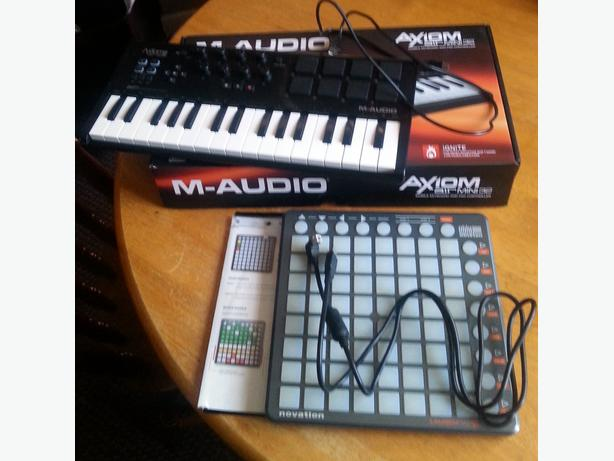  Log In needed £150 · M-Audio Axiom Air Mini 32 Midi Keyboard & Novation  Launchpad S