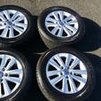 "set of Genuine VW T5 17"" inch alloy wheels / Dunlop 235 55 17 Tyres"