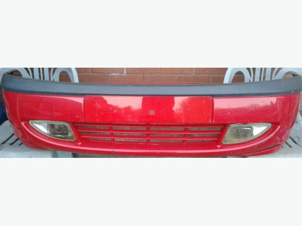 Ford Fiesta Front Bumper With Fogs In Red