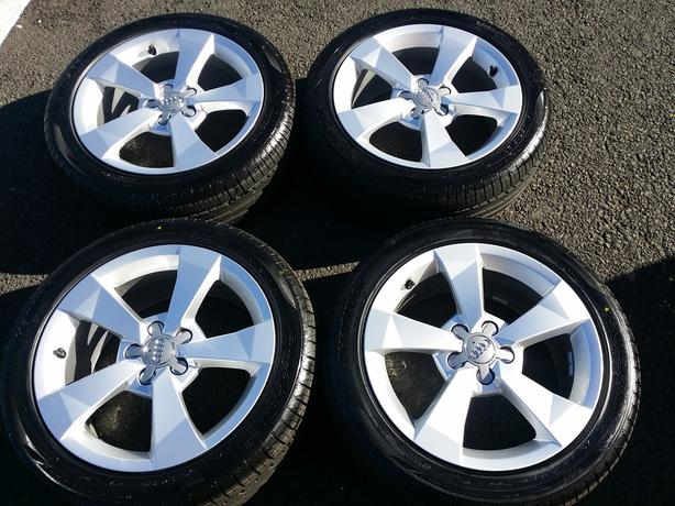 "Set of Genuine Audi A1 SE Sport 16"" Alloy Wheels / Hankook 215 45 16 tyres"