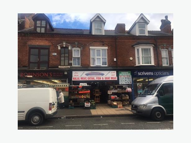 *BCH*-COMMERCIAL SHOP + FLAT ABOVE-High Street, ERDINGTON