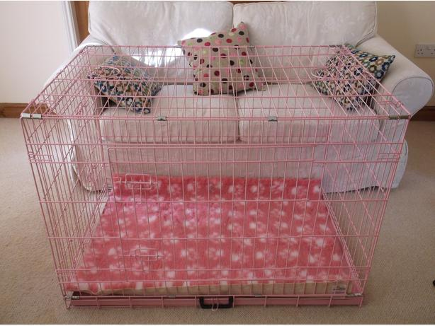 New Pink Dog Crate Size Extra Large 40 Inch