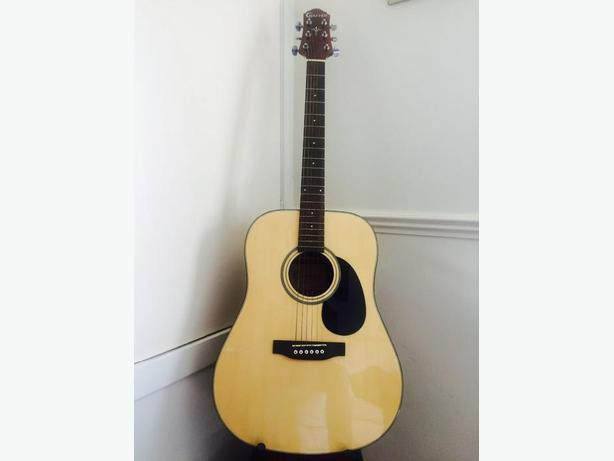 Crafter 6 String Acoustic Guitar with Hard Case.