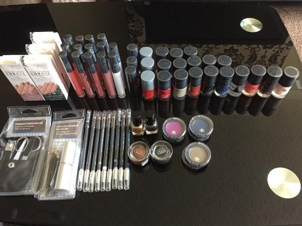 Various makeup and beauty products