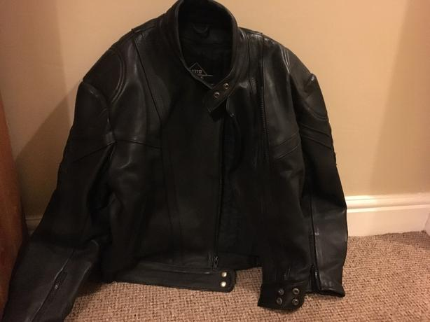 Akito leather motorcycle jacket - large