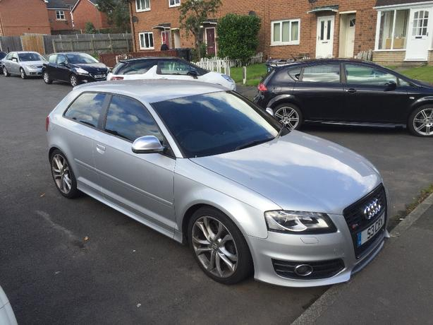 Audi s3 2.0 TFSI QUATTRO 3dr silver remapped Private Plate