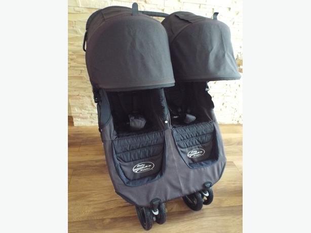 *** BABY JOGGER CITY SIDEWALK BLACK JOGGER DOUBLE SEAT STROLLER ***