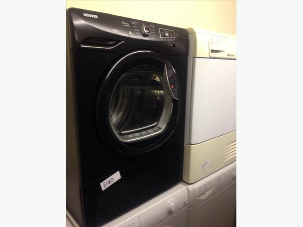 HOOVER 8KG BLACK CONDENSER DRYER