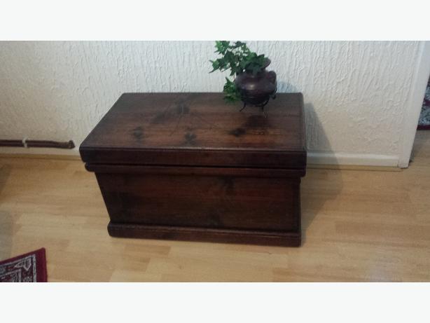 mahogany  wooden  chest