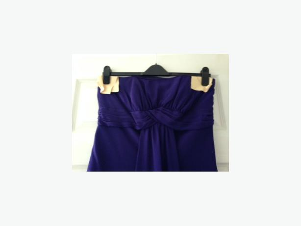 Long purple chiffon bridesmaid dress