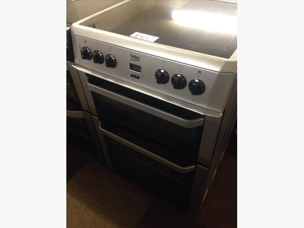 BEKO 60CM DOUBLE OVEN FAN ASSISTED ELECTRIC COOKER0