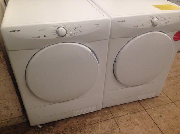 HOOVER CONDENSER DRYERS FOR SALE AVAILABLE NOW BOTH 8KG