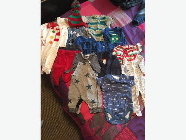 baby boy bundle of winter clothes 3-6 month