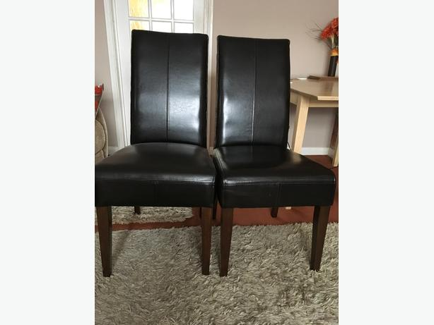 Quality leather dining chairs
