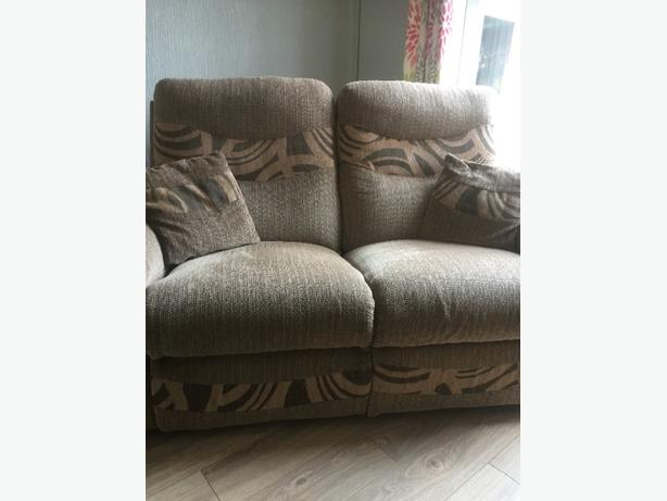 2 seater recliner sofa and recliner chair from scs