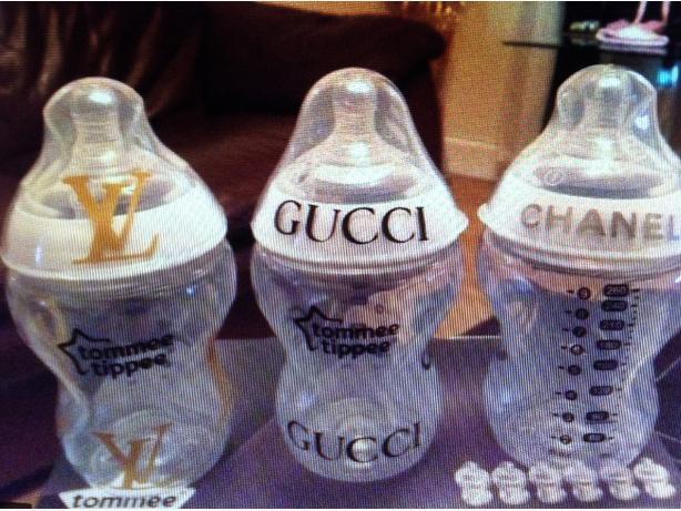 Designer baby bottles