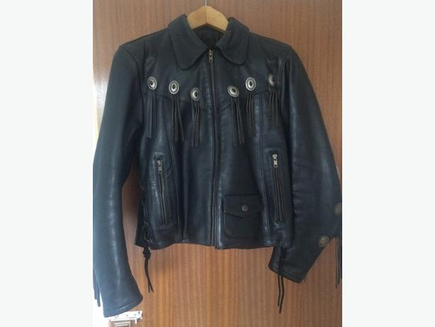 ladies western style leather jacket & trousers size 10