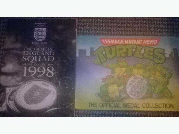 England 1998 , tmnt coin collection