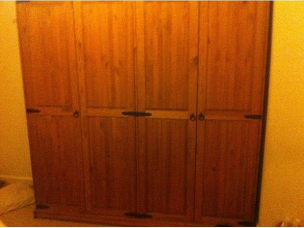 Double Oak Wardrobe