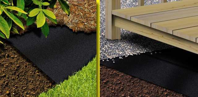 Landscaping Without Weed Barrier : Garden weed stop barrier membrane dudley