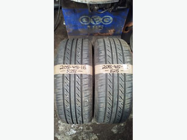 2x 205-45-16 Landsail Ls288 87W 7mm Part Worn Tyres