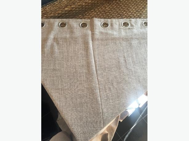 oatmeal eyelet curtains 46x90