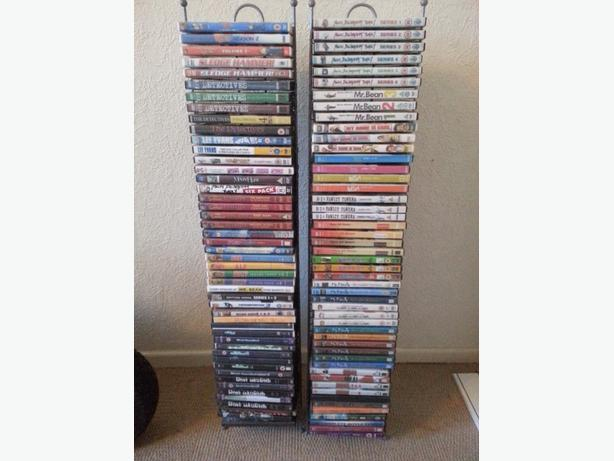 100 dvds and stands
