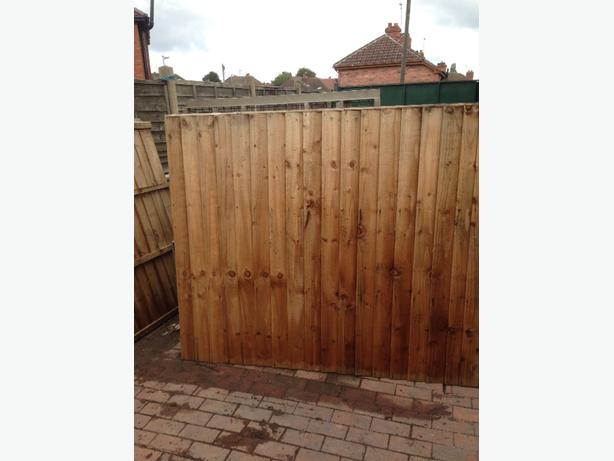 feather edge fence panels 6x5