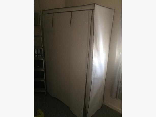 metal framed canvas wardrobe