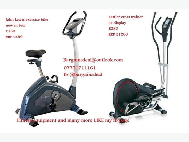 John Lewis exercise bike / Kettler cross trainer