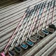 Junior golf clubs an trolley