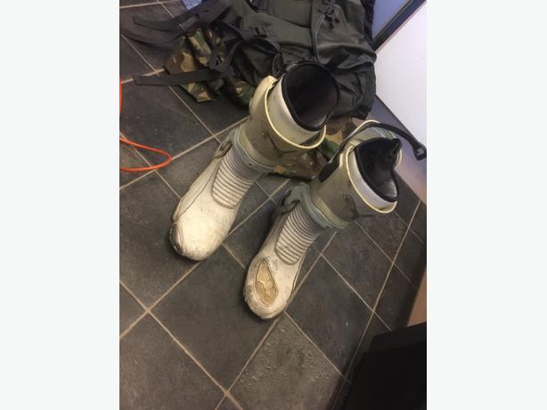 white puma motorbike boots