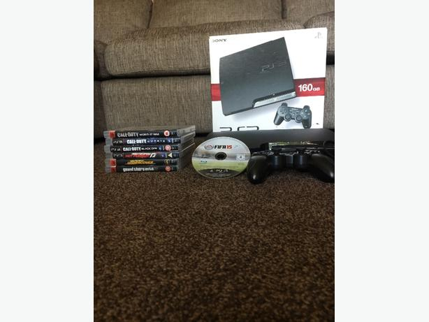 ps3 160gb + games